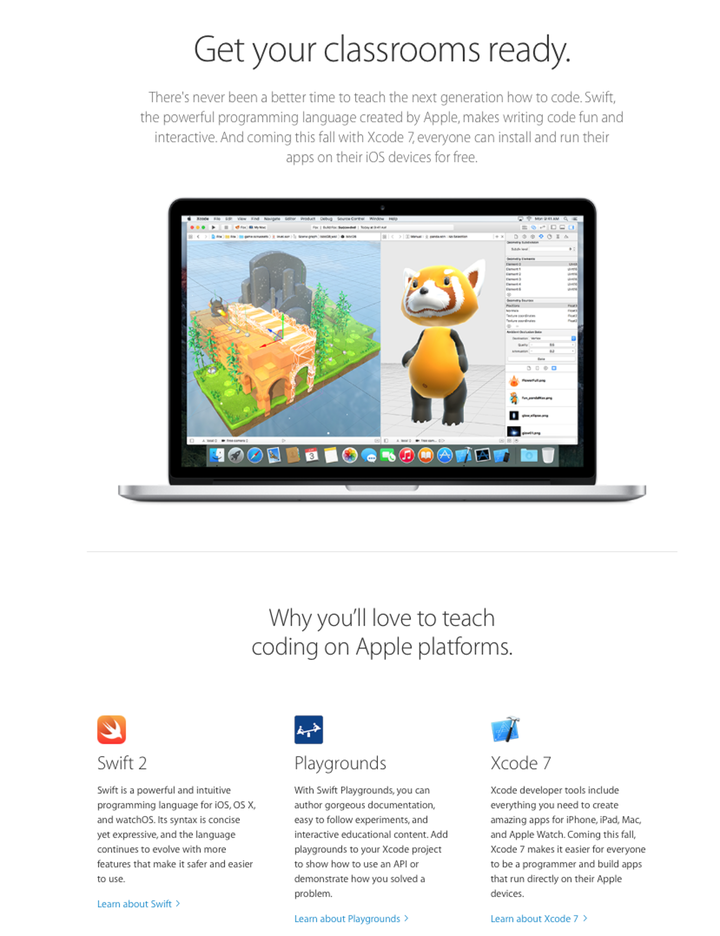 Apple Marketing Swift